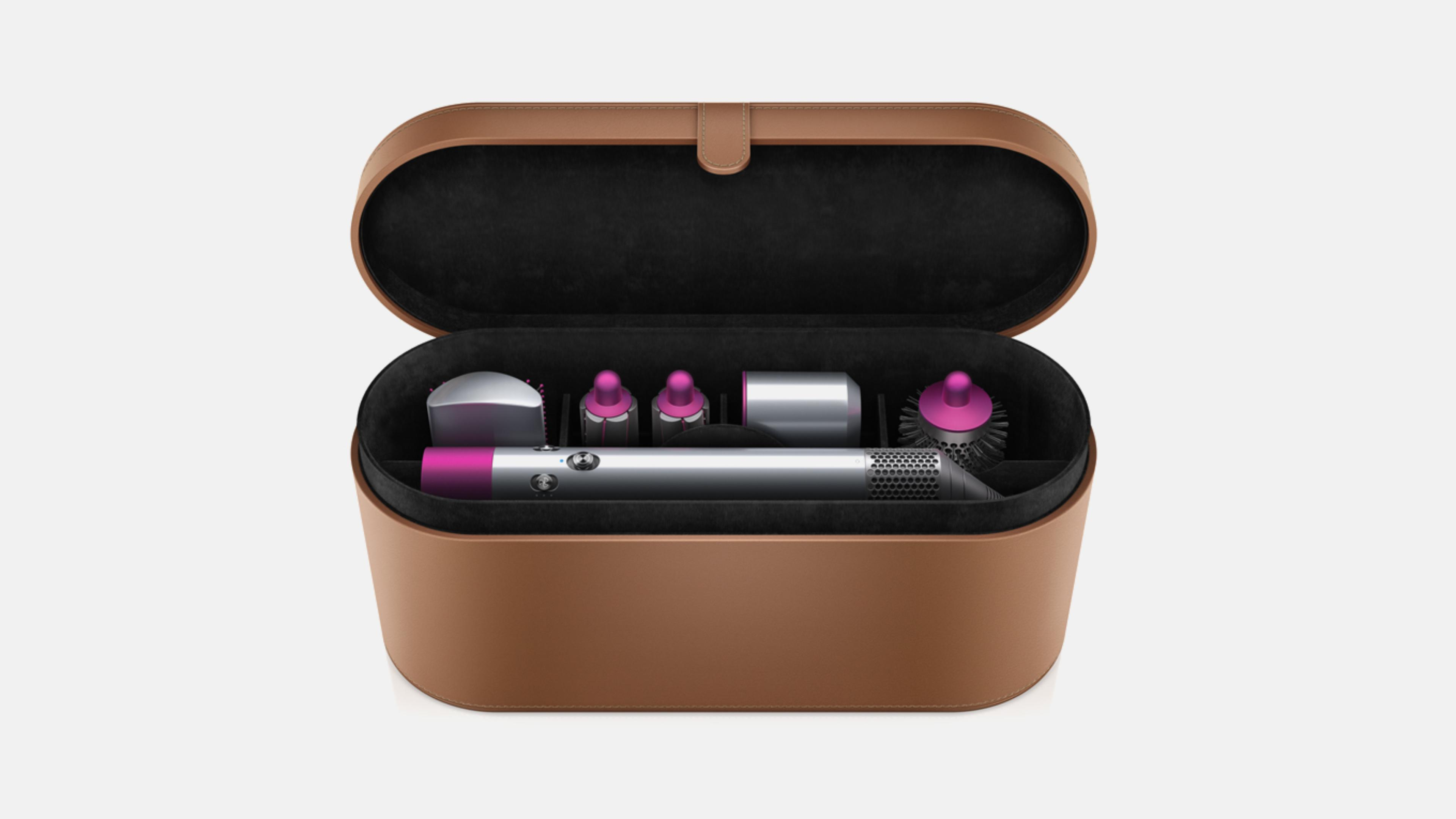 Dyson Airwrap™ hair styler inside hard storage case