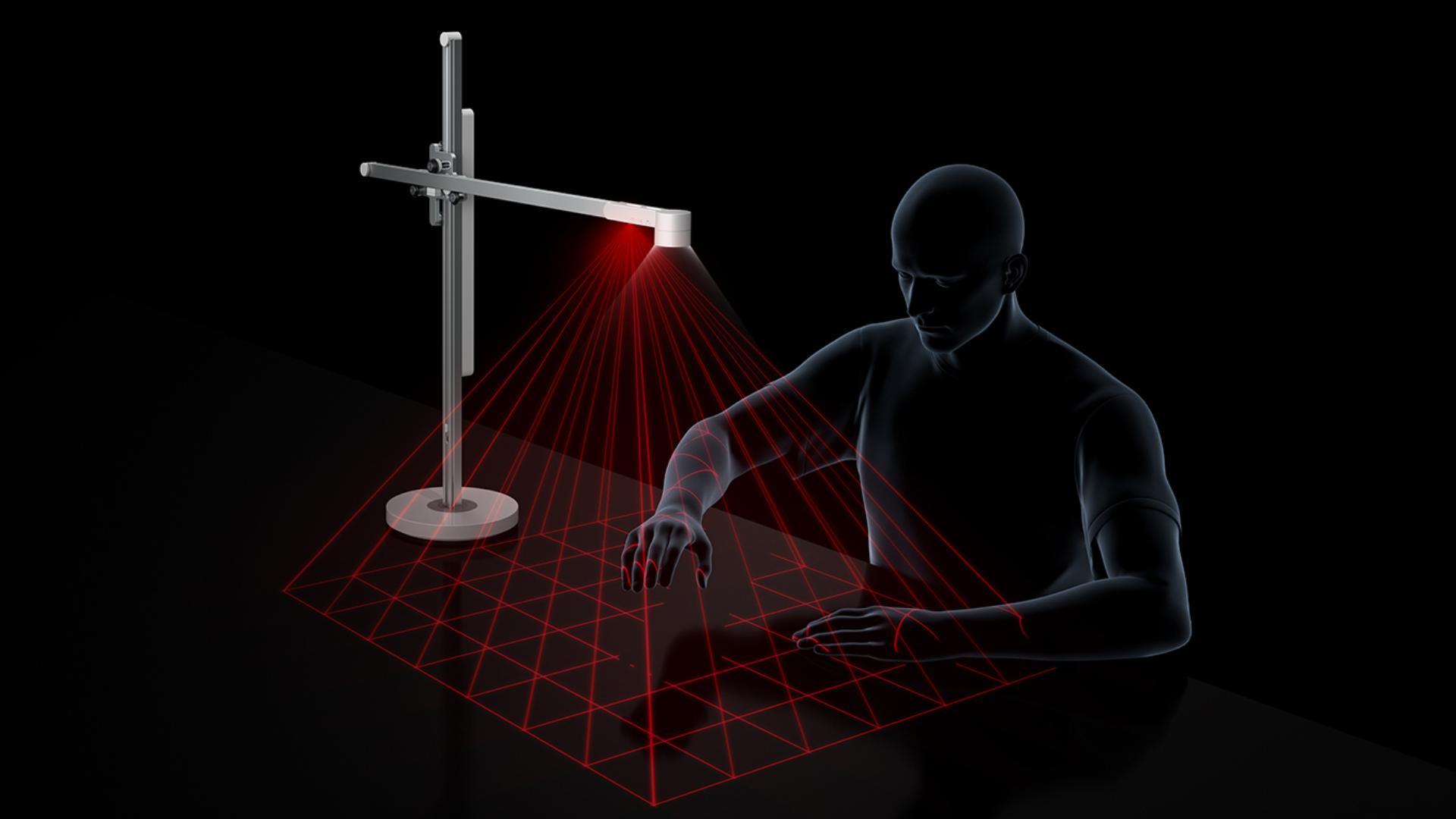 Gráfico de alta tecnología de sensor infrarrojo