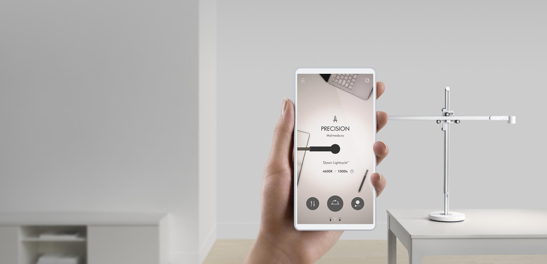 Una pantalla de smartphone con la app Dyson Link