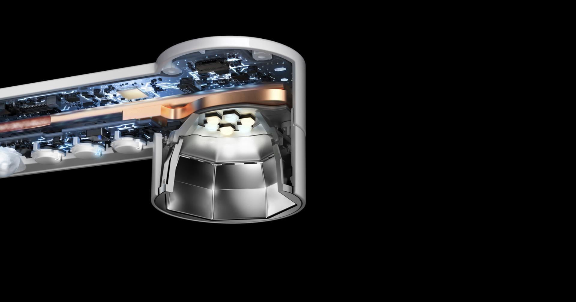 Tecnología de enfriamiento Heat Pipe en la lámpara de trabajo Dyson Lightcycle