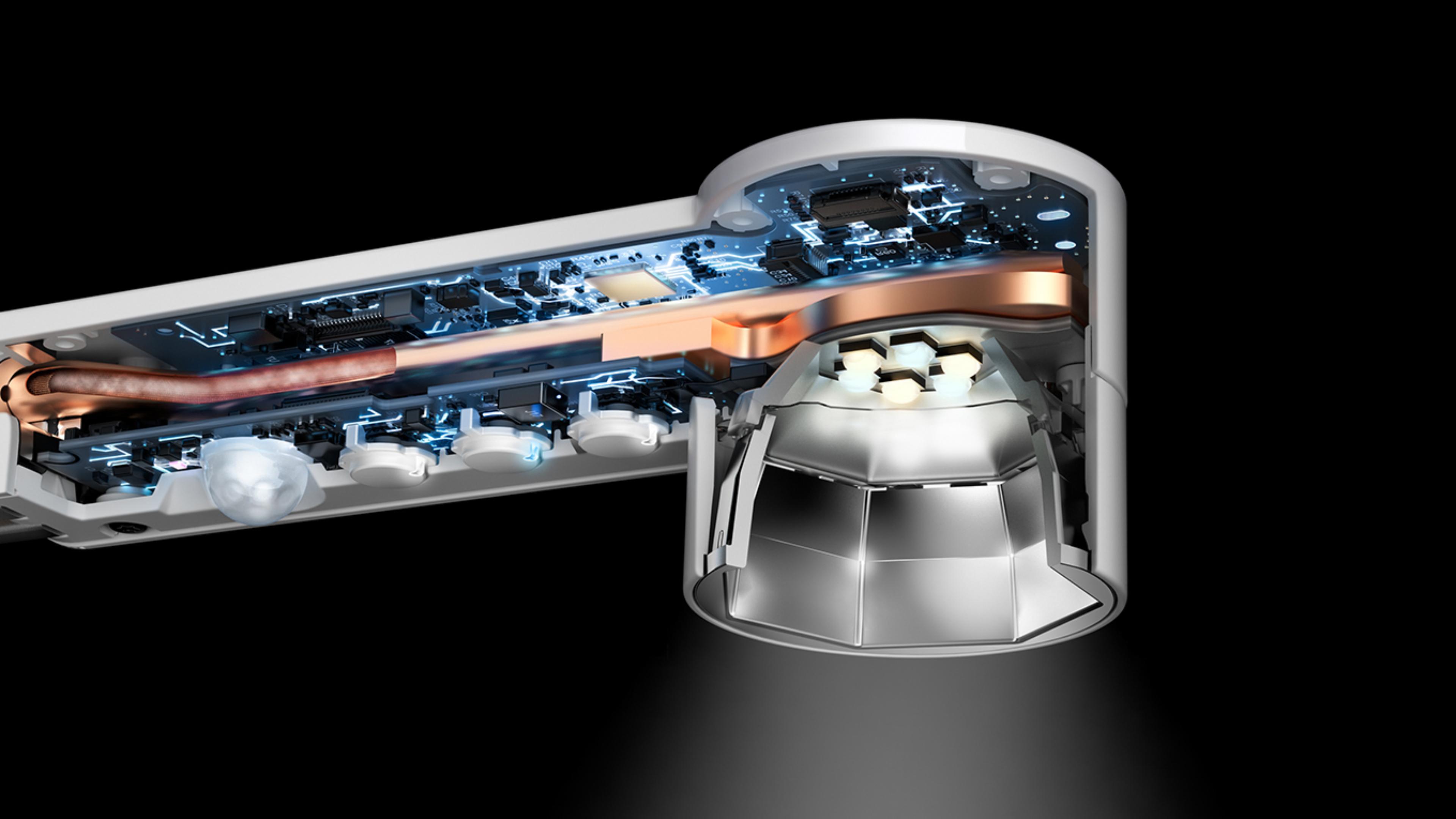 Tecnología en la lámpara Dyson LightCycle