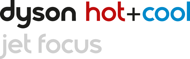 Logótipo da termoventoinha Dyson Hot+Cool com controlo Jet Focus