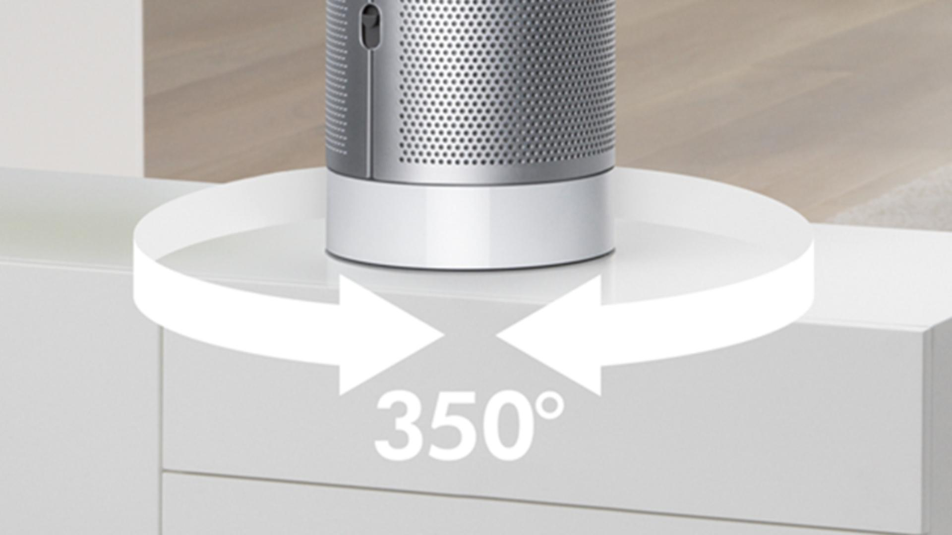 Dyson Pure Cool oscillates up to 350 degrees