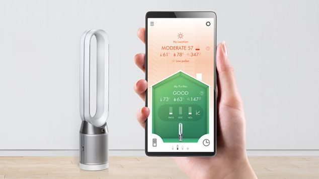 Close-up of Dyson Link app