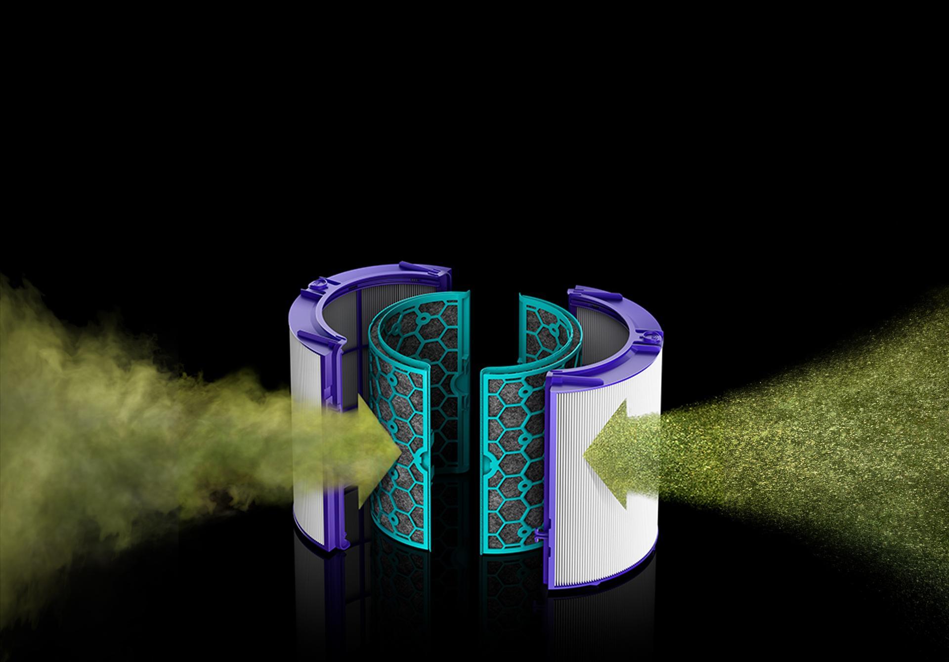 Harmful gases entering HEPA filter