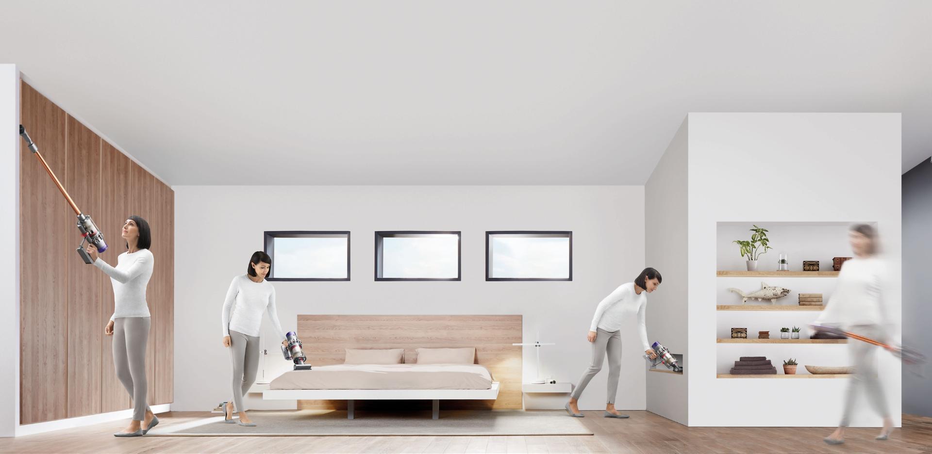 Dyson Cyclone V10™ elektrikli süpürge evi temizlerken
