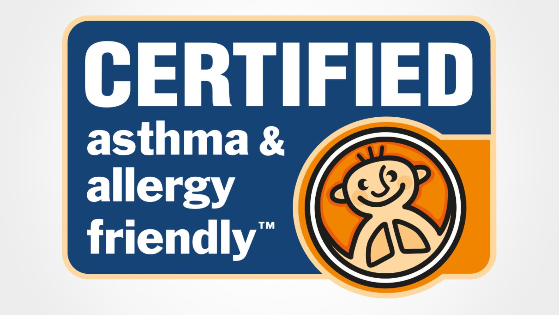 ได้รับการรับรอง Asthma and Allergy friendly™