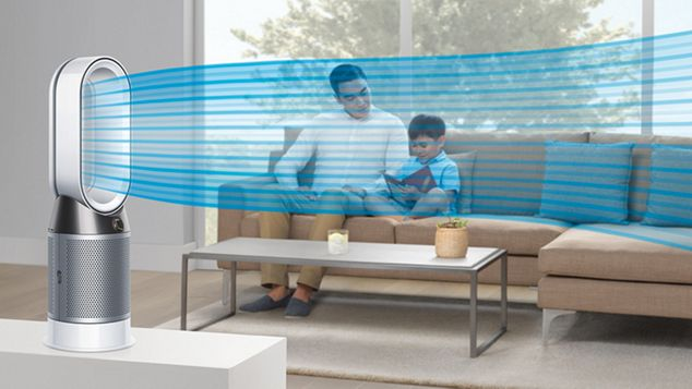 Dyson Pure Hot + Cool purifier fan heater cooling in living area