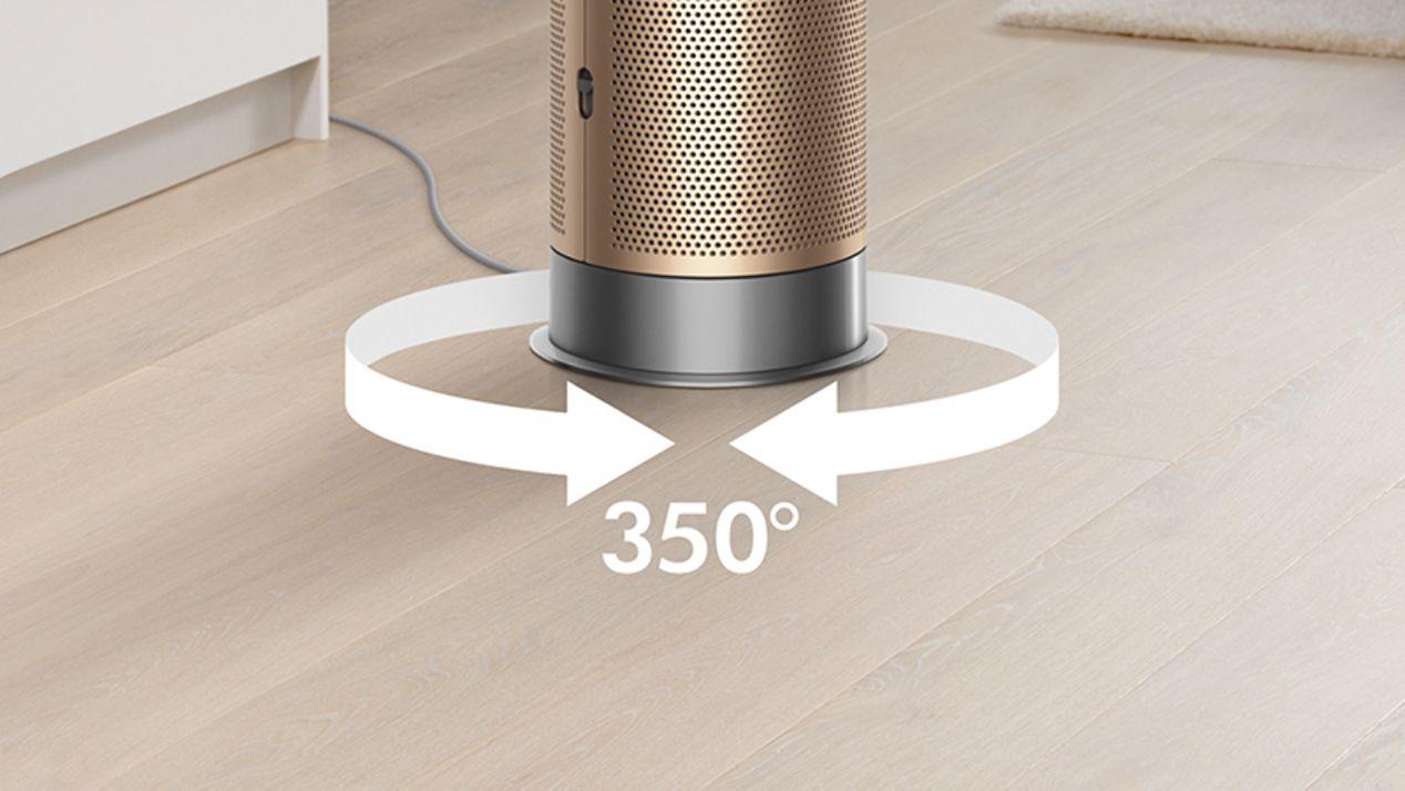Air purifier 350 degree oscillation