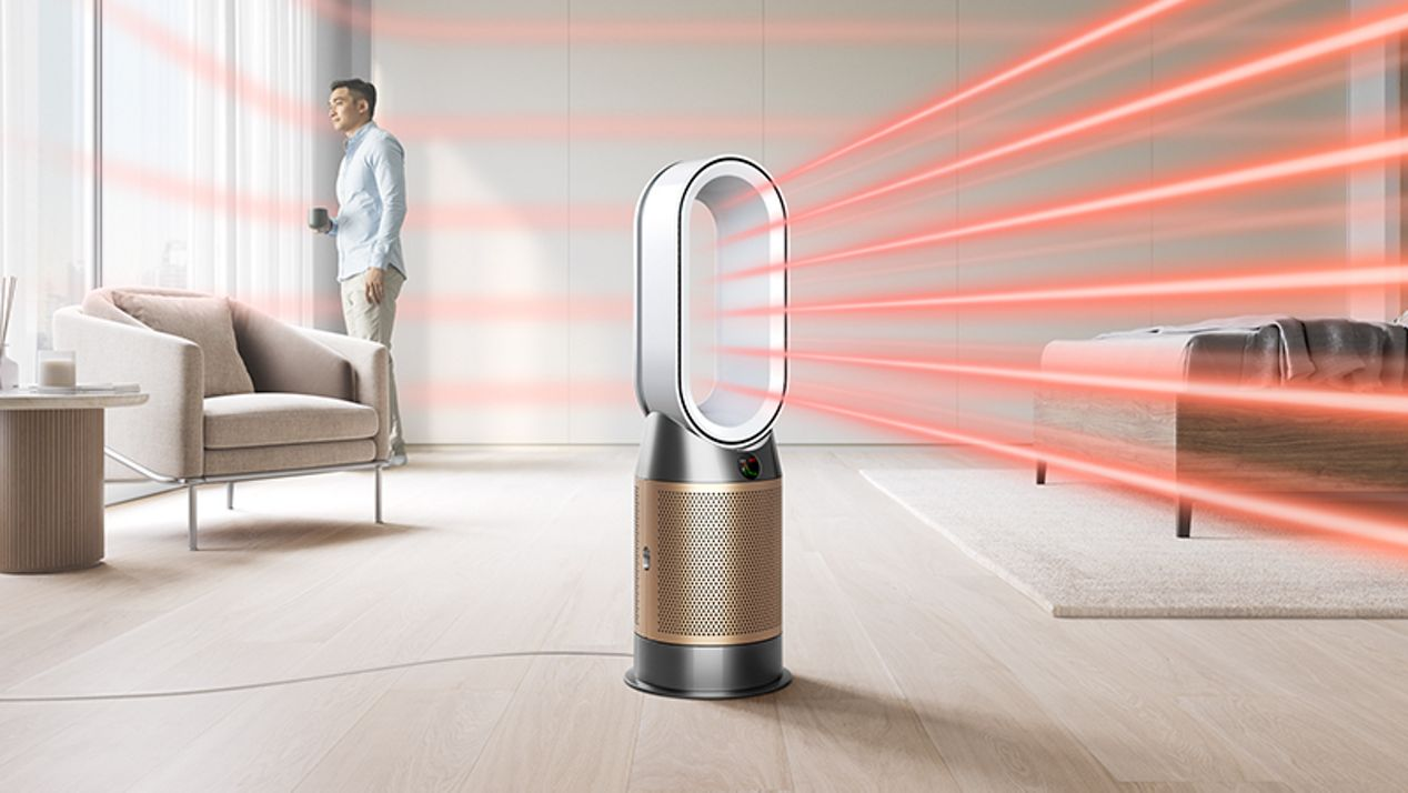 Dyson purifier hot + cool formaldehyde heating the whole room