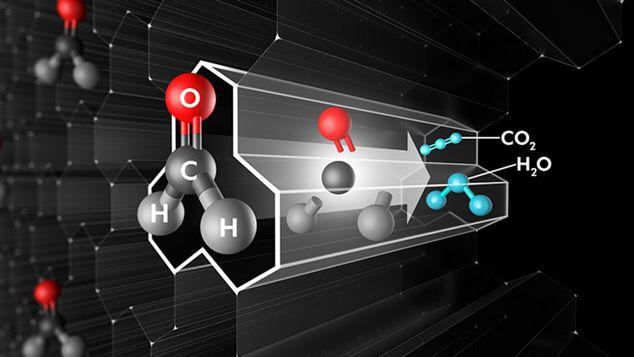 Формальдегид разрушается на молекулярном уровне