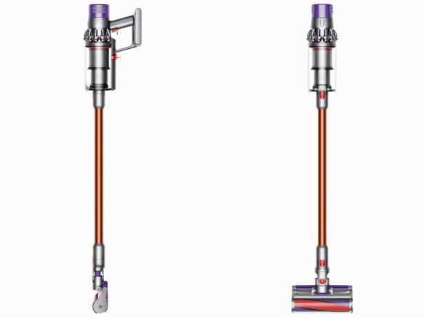 Two Dyson Cyclone V10 cord free vacuum cleaners