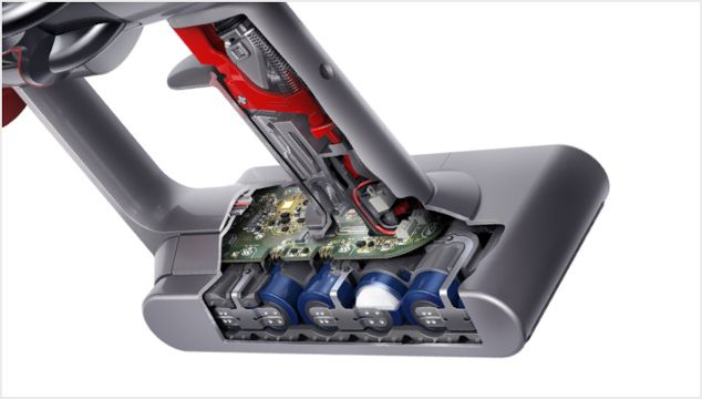 Cutaway of Dyson V11 vacuum battery pack