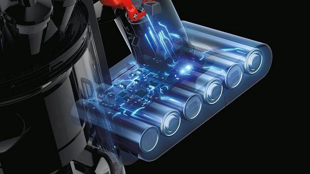 Croquis du mécanisme intérieur de la batterie du DysonV8