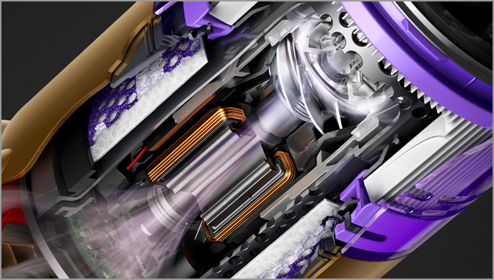 תמונת חתך של מנוע Dyson Hyperdymium