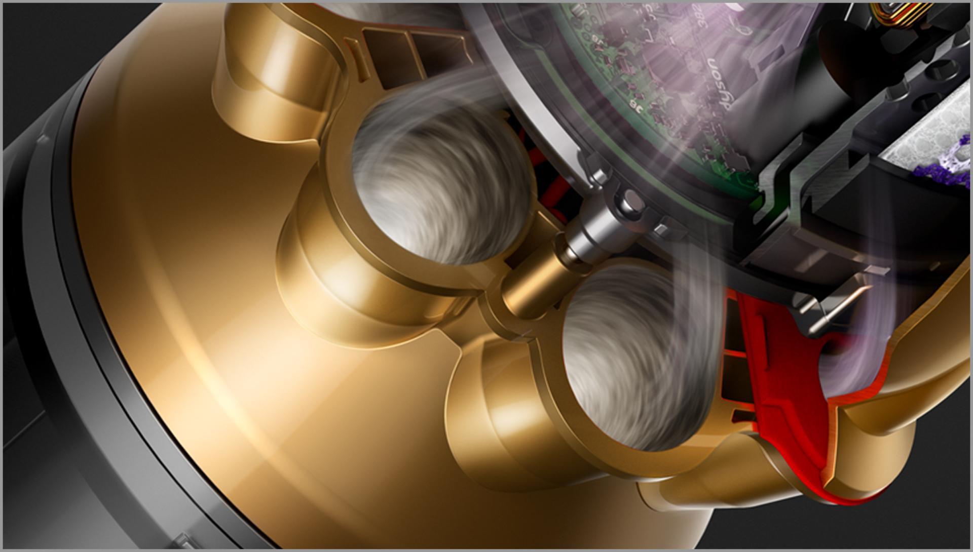 תמונת חתך של ציקלונים רדיאליים