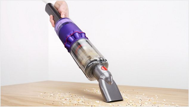 The Dyson Omni-glide vacuum in handheld mode