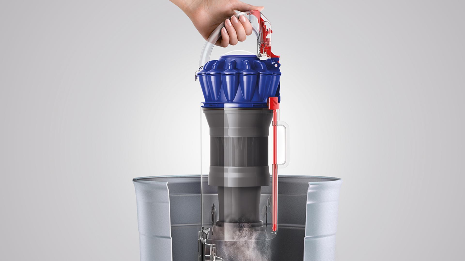One-click hygienic bin emptying icon
