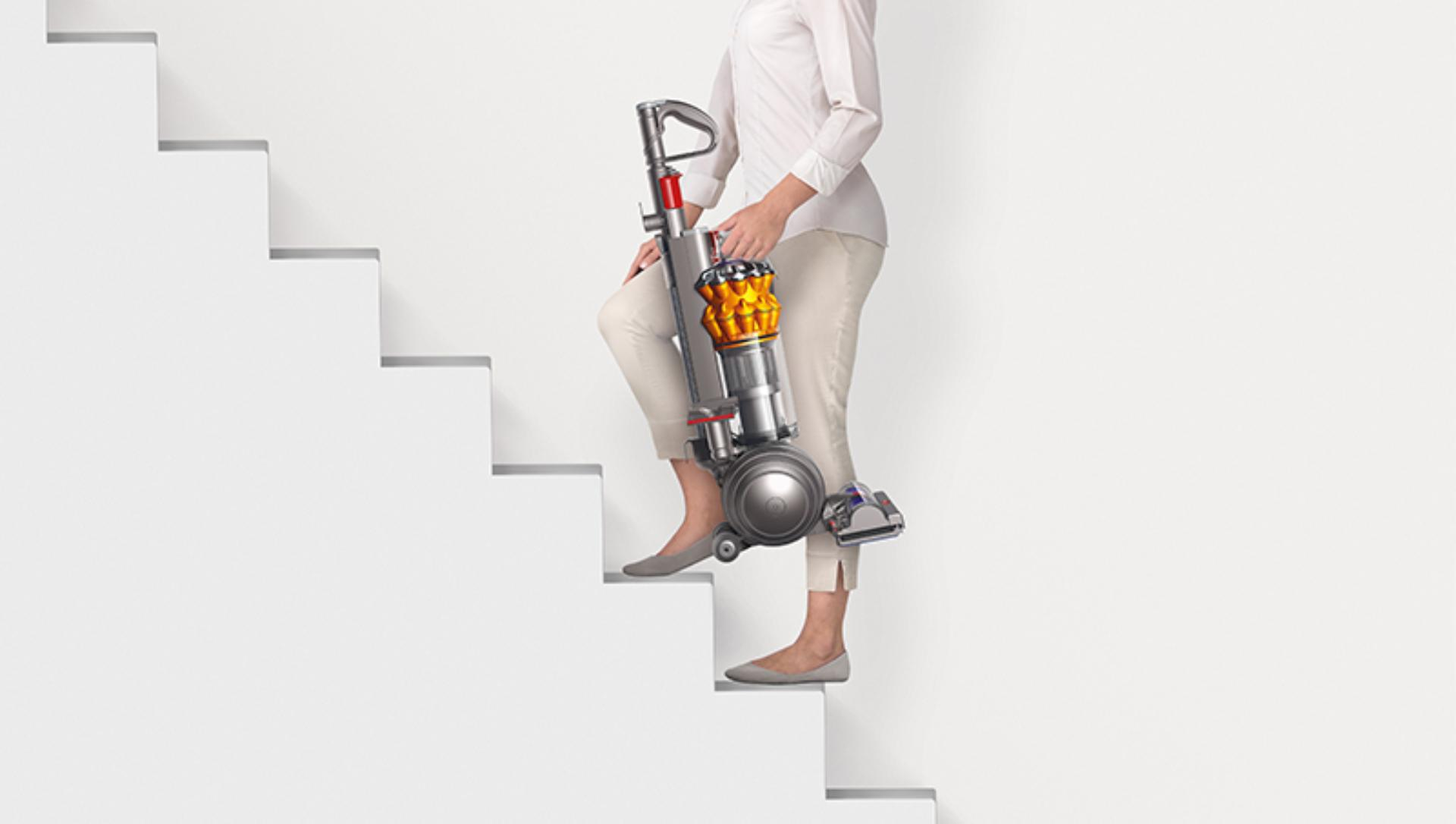 The Dyson Small Ball vacuum is a lightweight, compact vacuum  – easy to carry up the stairs and around the home.