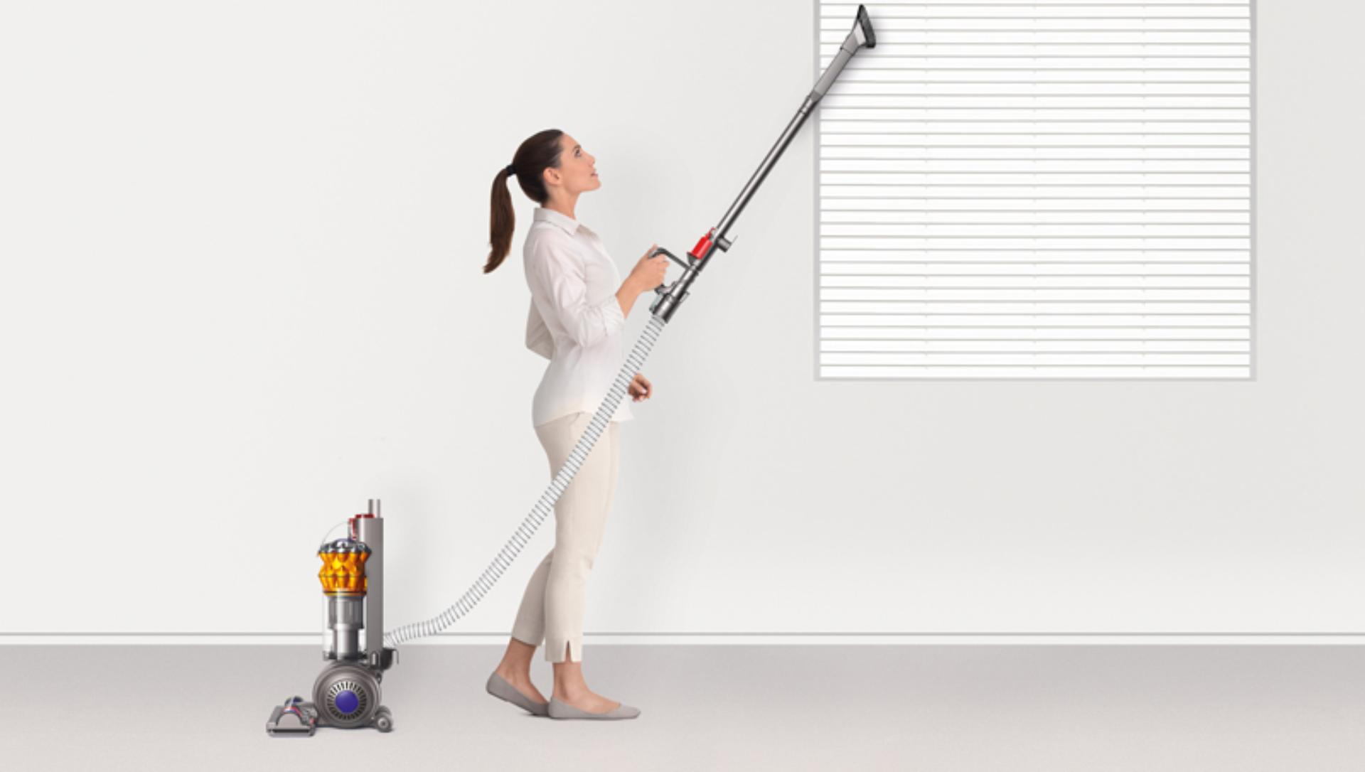 The Dyson Small Ball vacuum's extended hose, wand and cable length gives you the ability to clean even more space even with a compact machine.