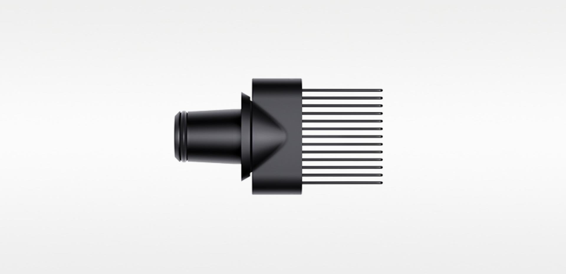 Wide tooth comb (Black/Nickel)