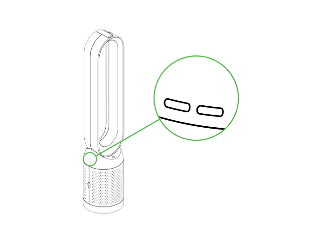 Dyson Pure Cool Purifying Tower Fan Tp04 White Silver
