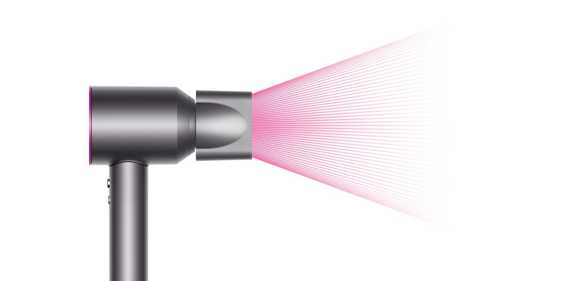 Difüzör başlık aparatı ile birlikte Dyson Supersonic ™ saç kurutma makinesi