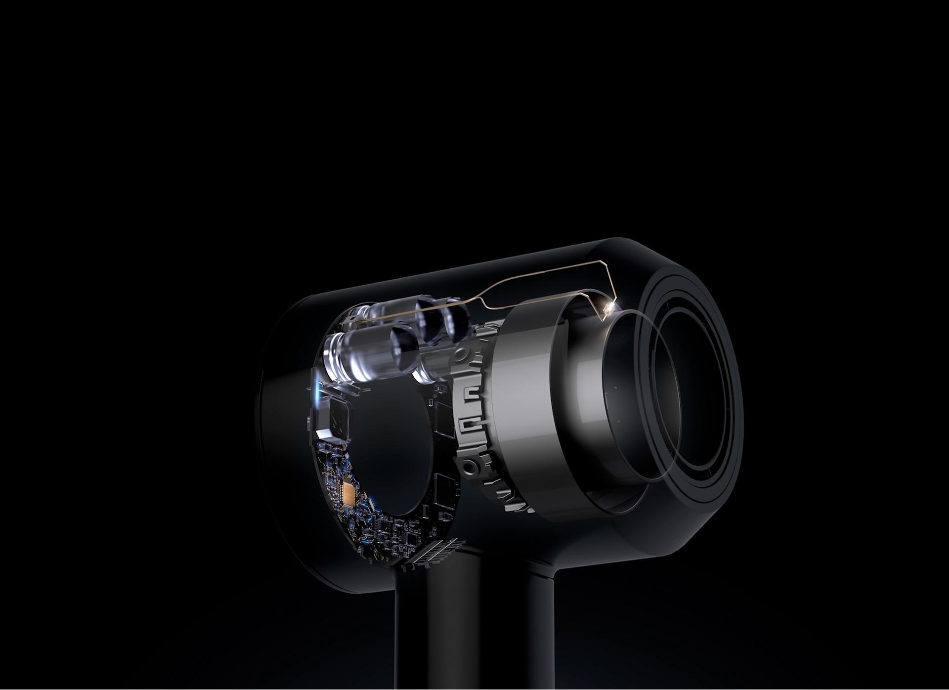 Dyson Supersonic ™ saç kurutma makinesi iç tasarımı